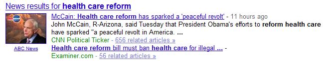 McCain Health Care Reform