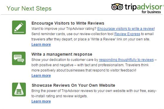 How TripAdvisor Follows Up on Reviews