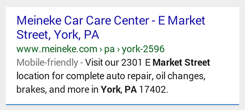Mobile - Auto Repair, York PA Example