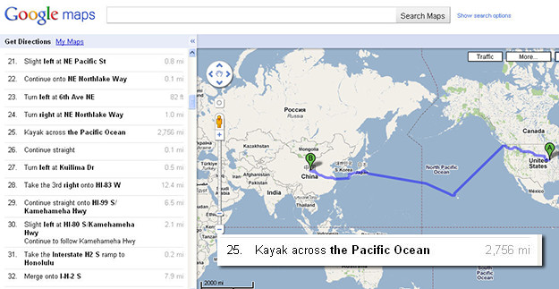 Google Maps Easter Egg: How Do I Get to China